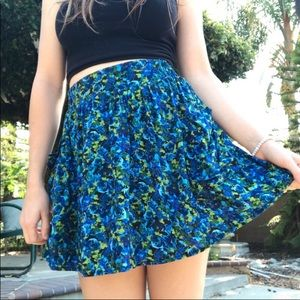 Dresses & Skirts - Blue Flower Sun Skirt